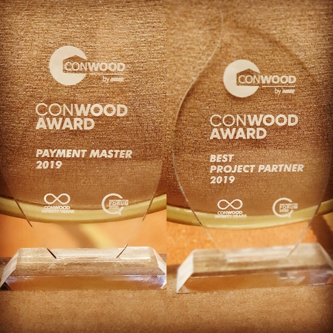 Conwood - Best Project Partner and Payment Master 2019